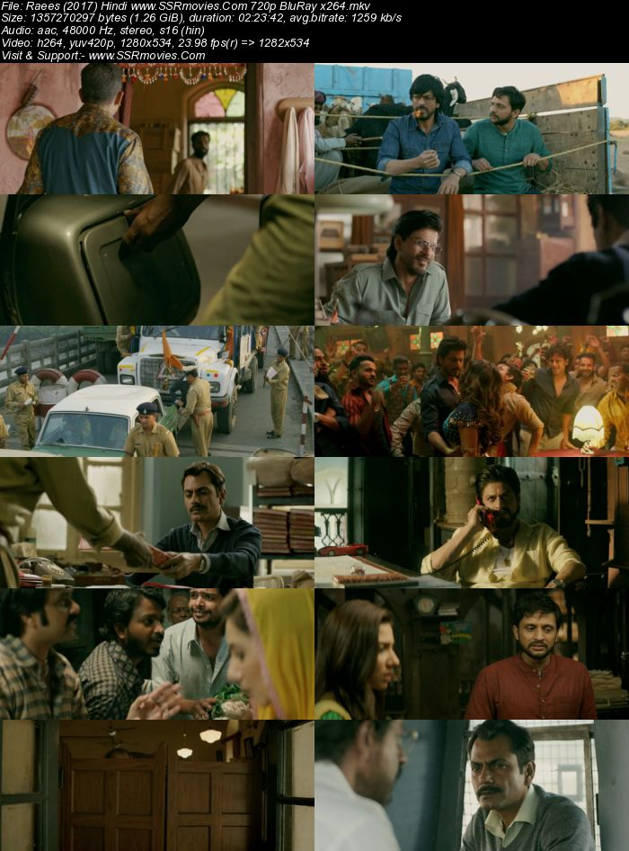 Raees (2017) Hindi 480p BluRay x264 450MB Full Movie Download