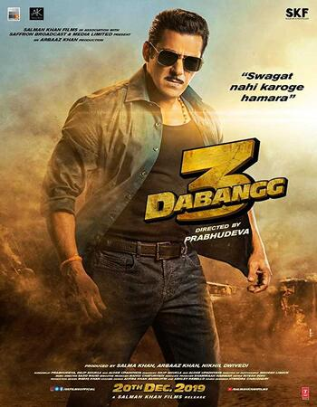 Dabangg 3 2019 Hindi 800MB HDRip 720p ESubs HEVC