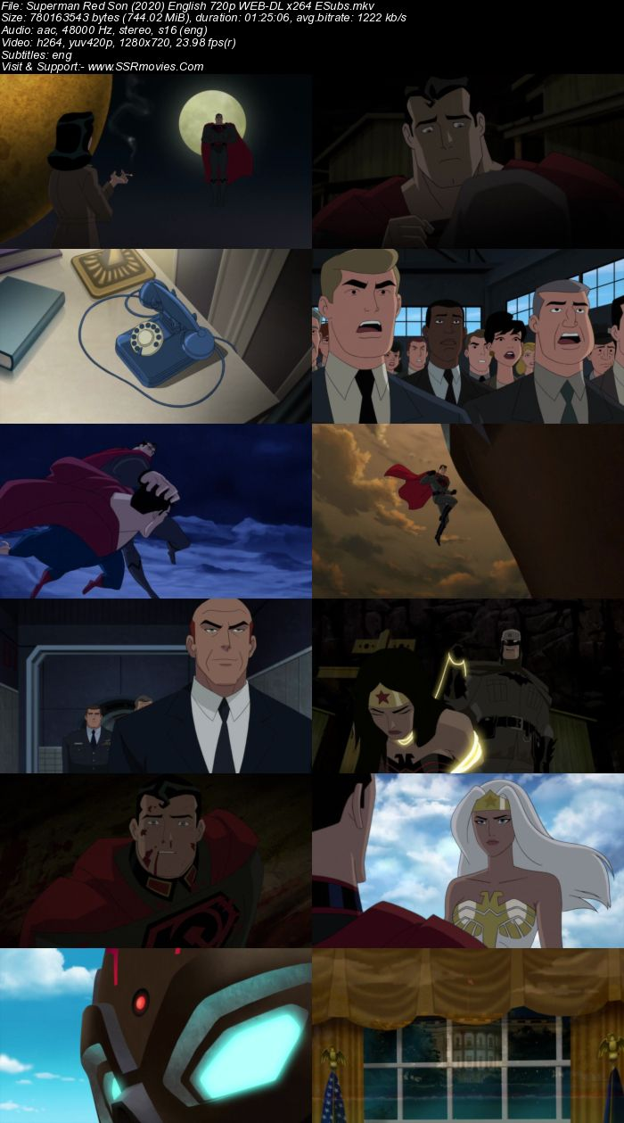Superman: Red Son (2020) English 720p WEB-DL x264 750MB Full Movie Download