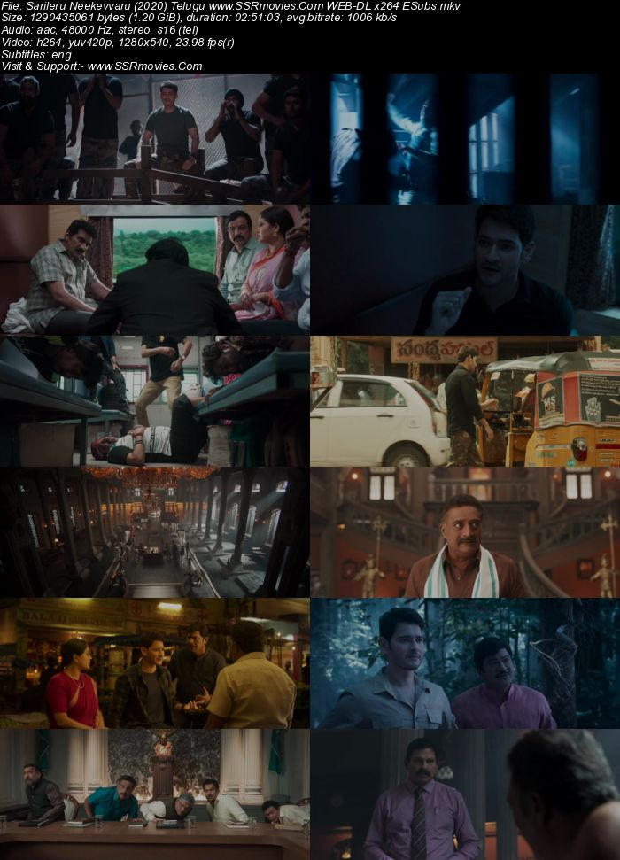 Sarileru Neekevvaru (2020) Telugu 480p WEB-DL x264 500MB ESubs Full Movie Download