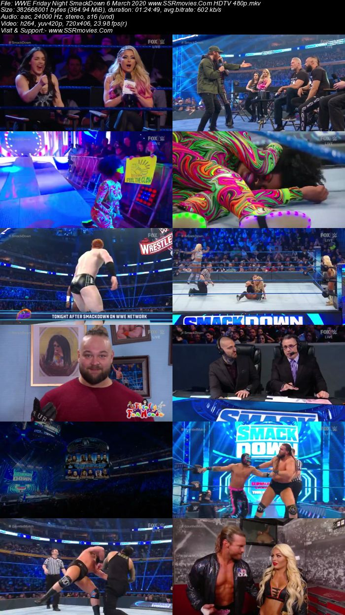 WWE Friday Night SmackDown 6 March 2020 Full Show Download 480p 720p HDTV WEBRip