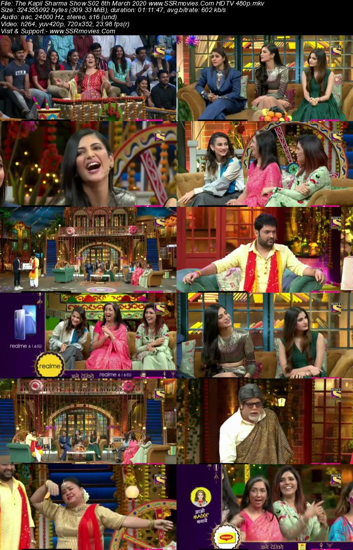 The Kapil Sharma Show S02 8th March 2020 Full Show Download HDTV HDRip 480p 720p