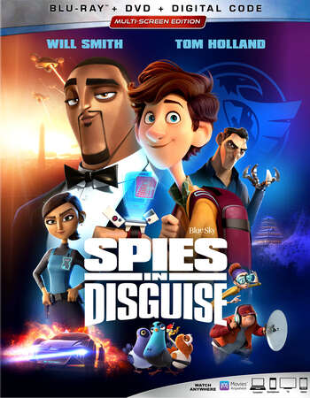 Spies in Disguise (2019) Dual Audio Hindi 480p ORG BluRay 350MB ESubs Full Movie Download
