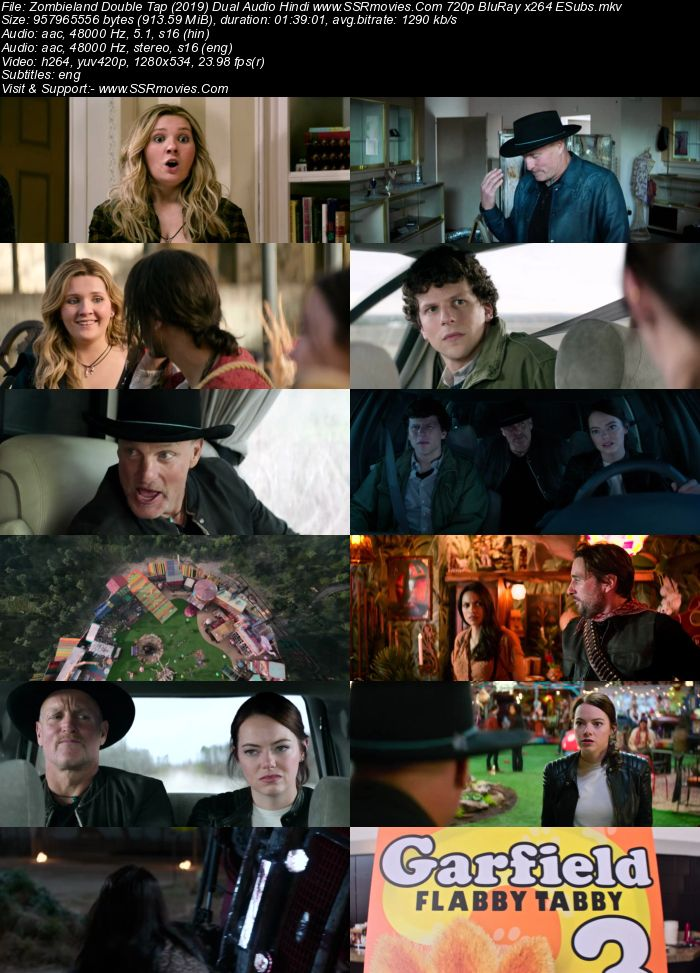 Zombieland: Double Tap (2019) Dual Audio Hindi ORG 720p BluRay x264 900MB Full Movie Download