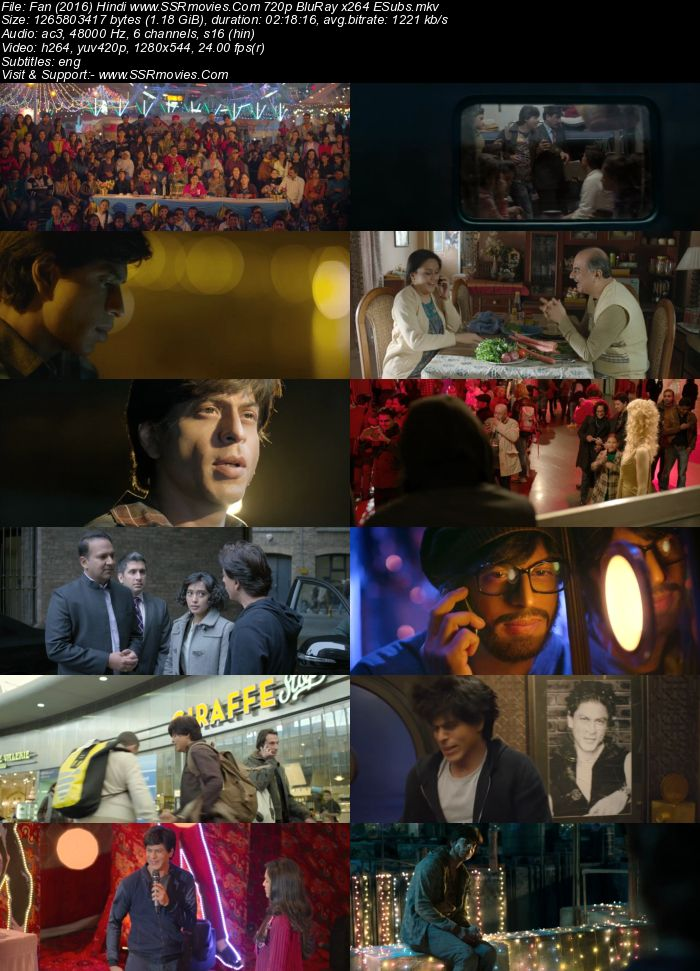 Fan (2016) Hindi 480p BluRay x264 400MB ESubs Full Movie Download