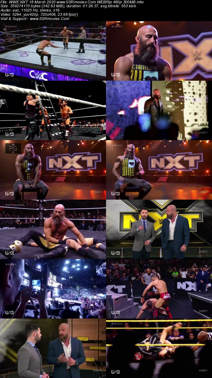 WWE NXT 18 March 2020 HDTV 480p Full Show Download