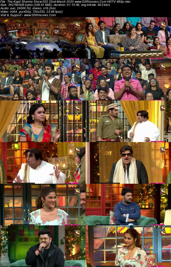 The Kapil Sharma Show S02 22 March 2020 Full Show Download HDTV HDRip 480p 720p