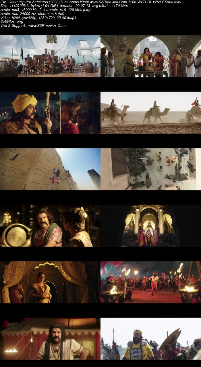 Gautamiputra Satakarni (2017) Dual Audio Hindi 480p HDRip 400MB ESubs Full Movie Download