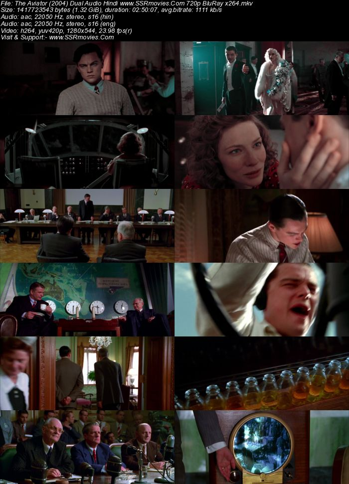 The Aviator (2004) Dual Audio Hindi 720p BluRay x264 1.3GB Movie Download
