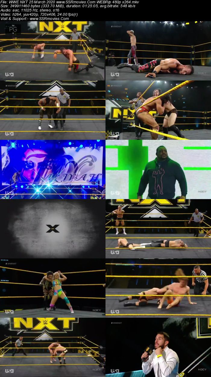 WWE NXT 25 March 2020 HDTV 480p Full Show Download