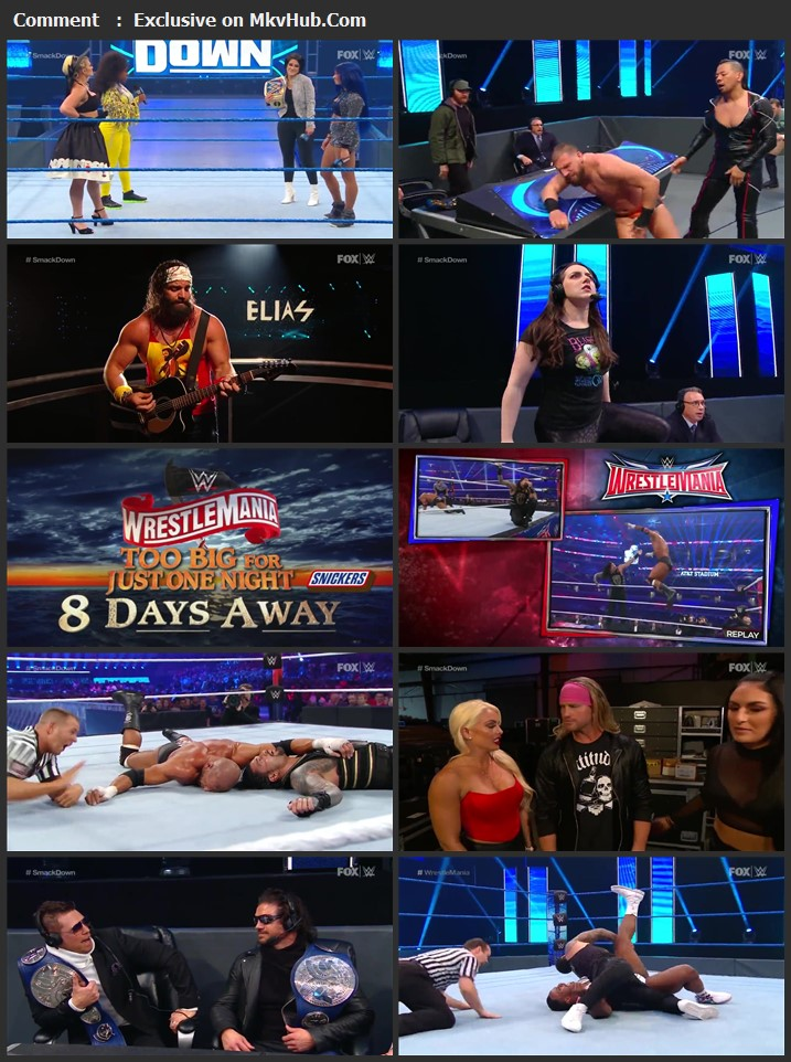 WWE Friday Night SmackDown 27 March 2020 720p HDTV x264 700MB Download