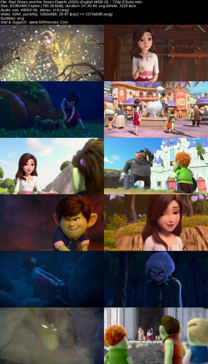 Red Shoes and the Seven Dwarfs (2019) English 720p WEB-DL x264 800MB Full Movie Download
