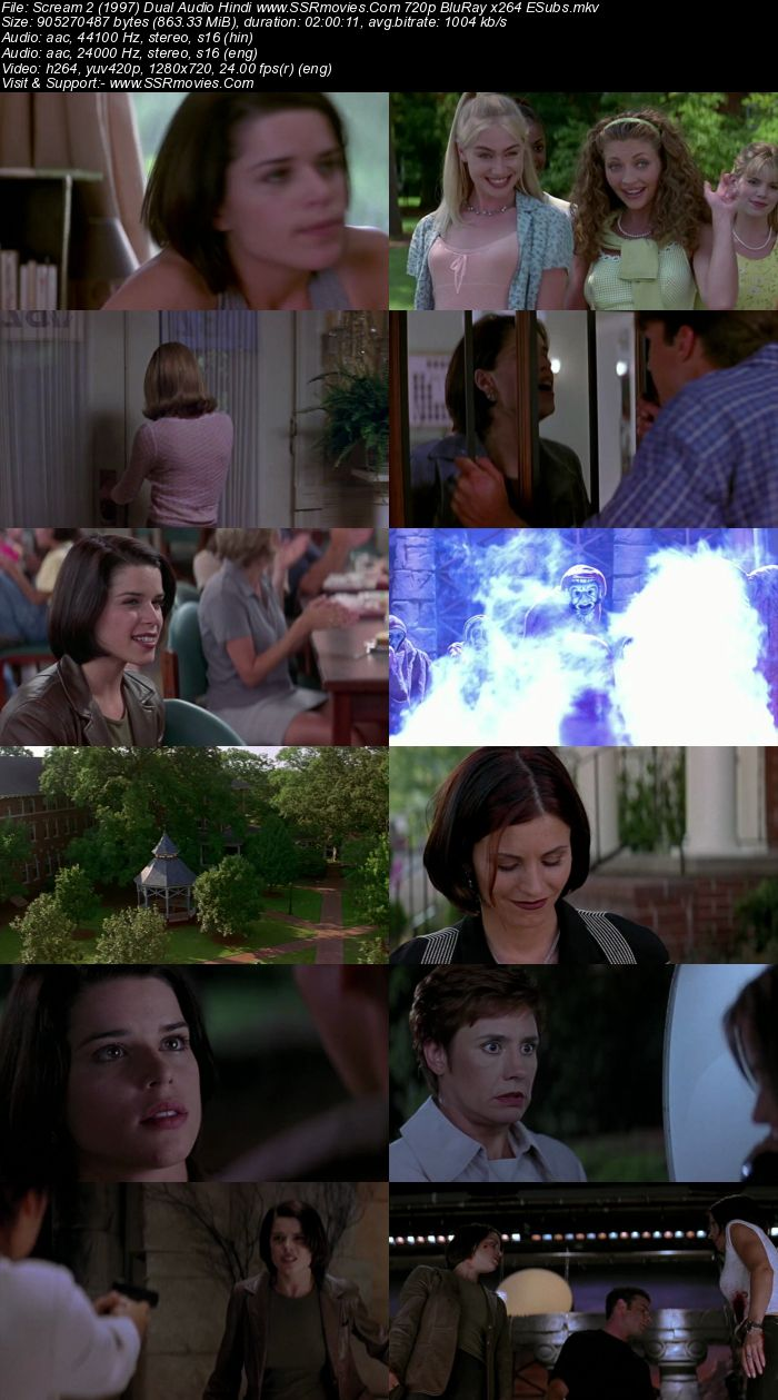 Scream 2 (1997) Dual Audio Hindi 720p BluRay x264 850MB Full Movie Download