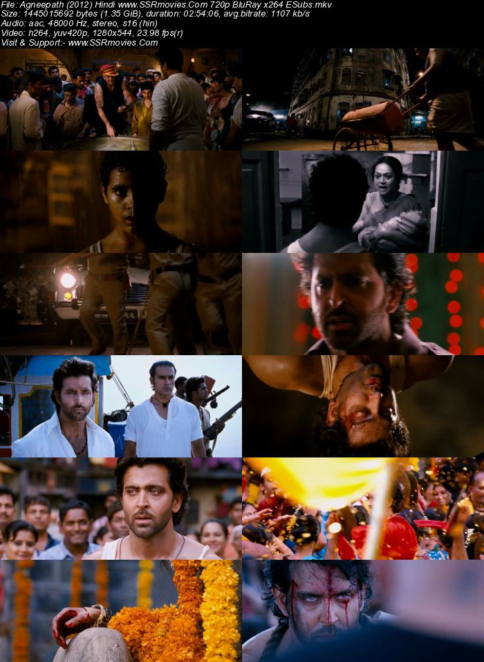 Agneepath (2012) Hindi 480p BluRay x264 500MB Full Movie Download
