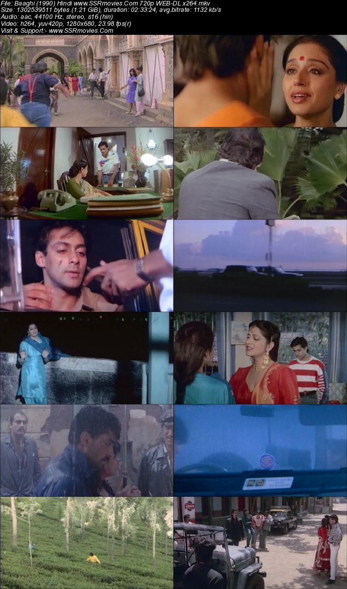 Baaghi: A Rebel for Love (1990) Hindi 720p WEB-DL x264 1.2GB Full Movie Download