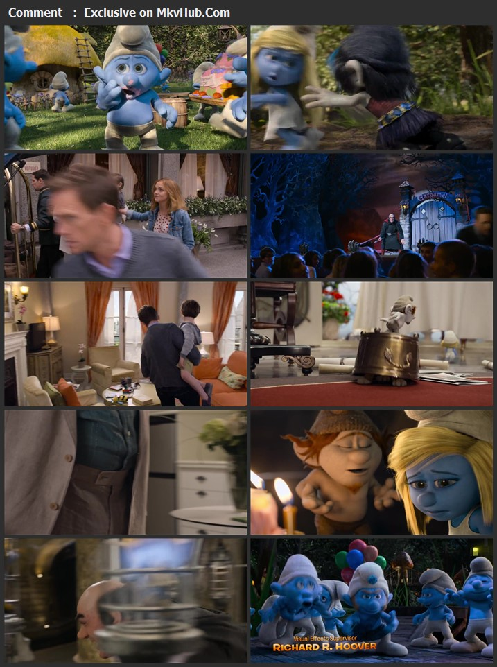 The Smurfs 2 2013 Dual Audio [Hindi-English] 720p BluRay 900MB Download