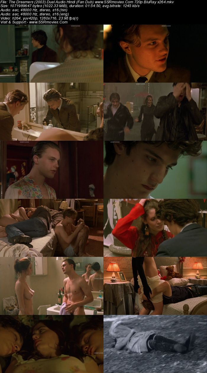 The Dreamers (2003) Dual Audio Hindi (Fan Dub) 480p BluRay 350MB Full Movie Download