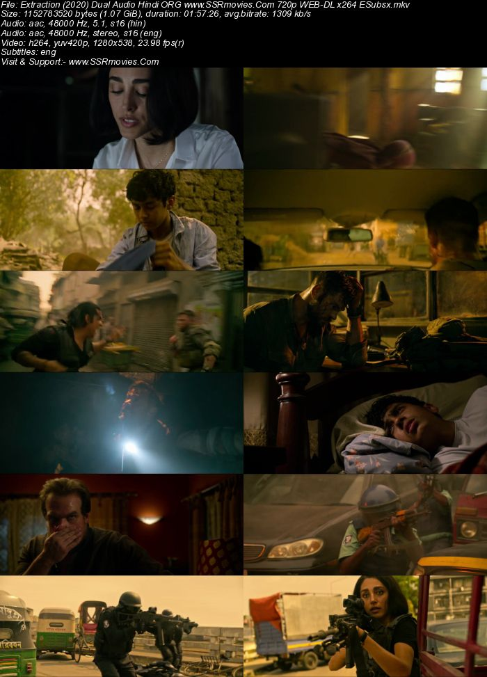 Extraction (2020) Dual Audio Hindi 720p WEB-DL x264 1.1GB Full Movie Download