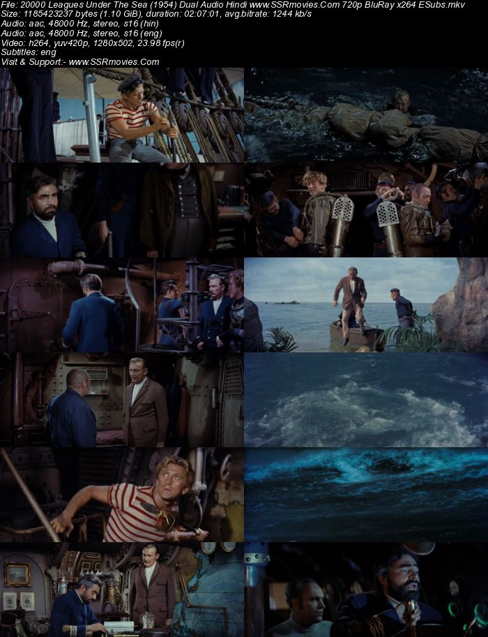 20,000 Leagues Under the Sea (1954) Dual Audio Hindi 480p BluRay 400MB Full Movie Download