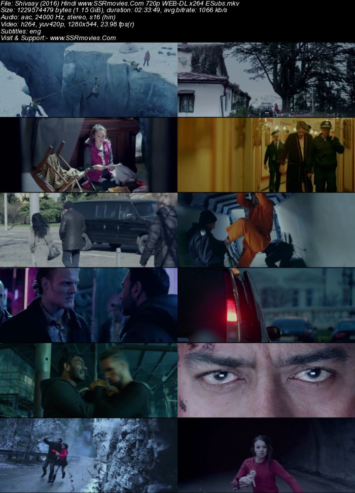 Shivaay (2016) Hindi 480p WEB-DL x264 450MB ESubs Full Movie Download