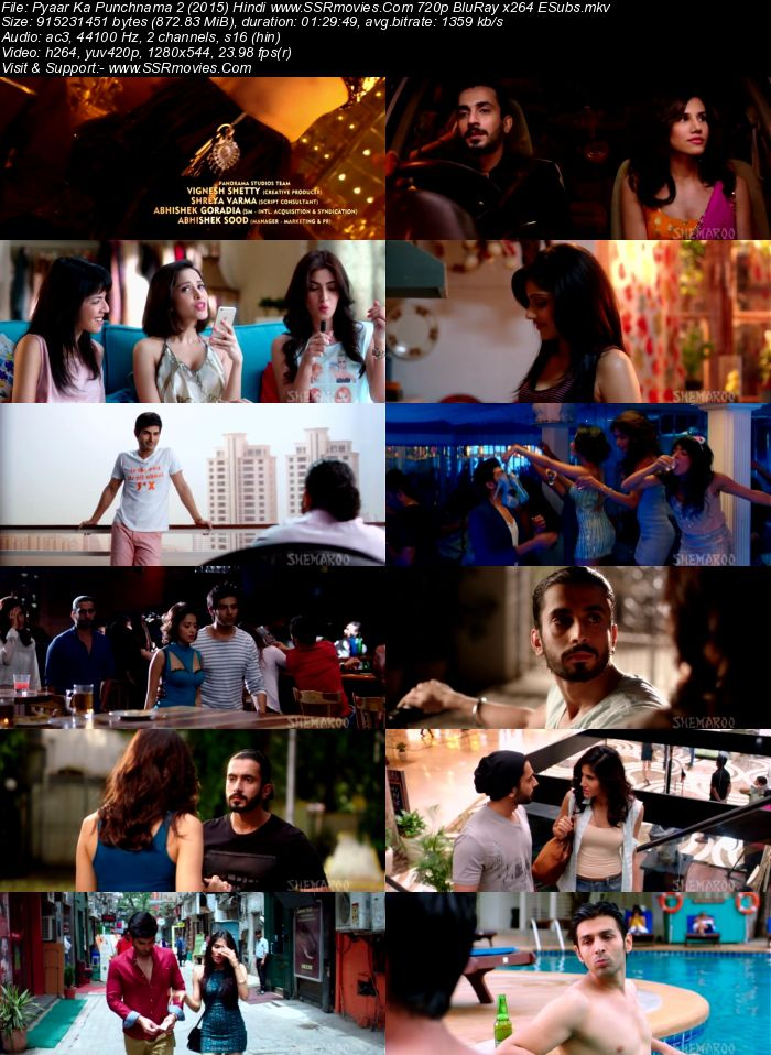 Pyaar Ka Punchnama 2 (2015) Hindi 720p WEB-DL x264 850MB Full Movie Download
