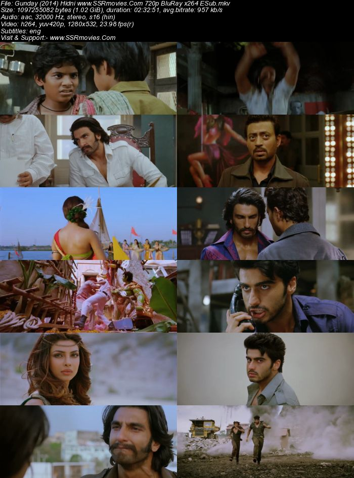 Gunday (2014) Hindi 720p BluRay 1GB Full Movie Download