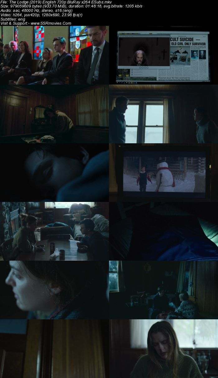The Lodge (2019) English 720p WEB-DL x264 900MB Full Movie Download