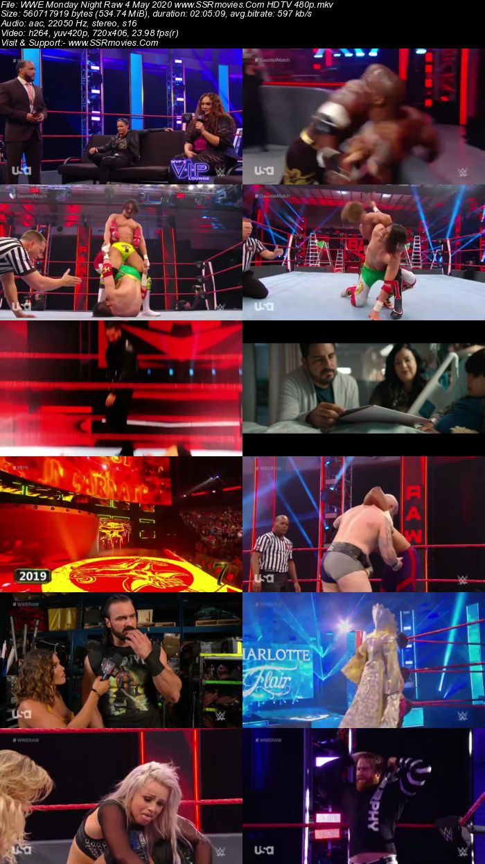 WWE Monday Night Raw 4 May 2020 Full Show Download HDTV WEBRip 480p 720p