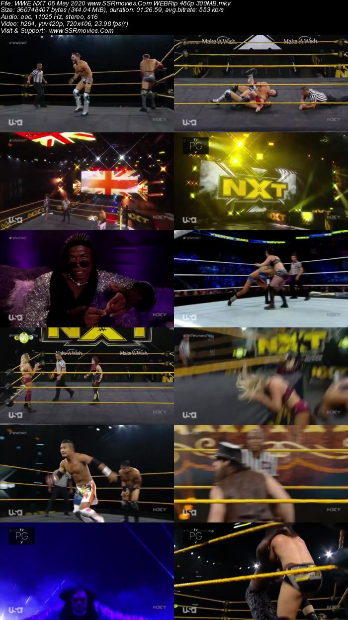 WWE NXT 6 May 2020 HDTV 480p Full Show Download