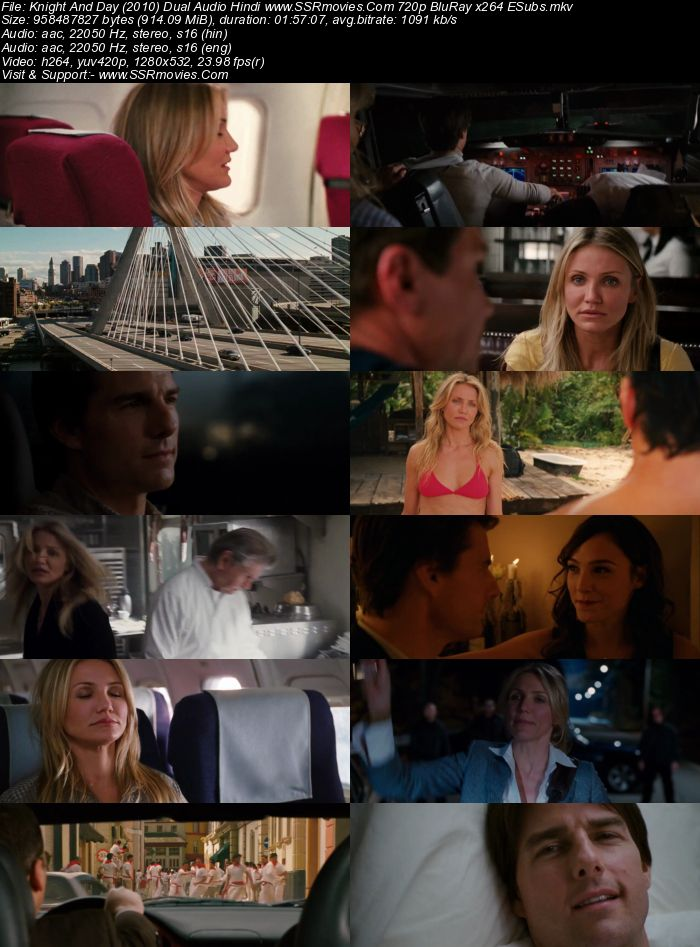 Knight and Day (2010) Dual Audio Hindi 480p BluRay x264 350MB Full Movie Download