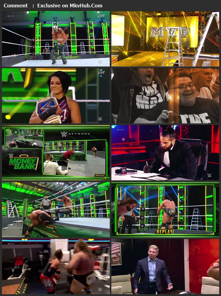 WWE Money In The Bank 2020 720p PPV WEBRip x264 1.1GB Download