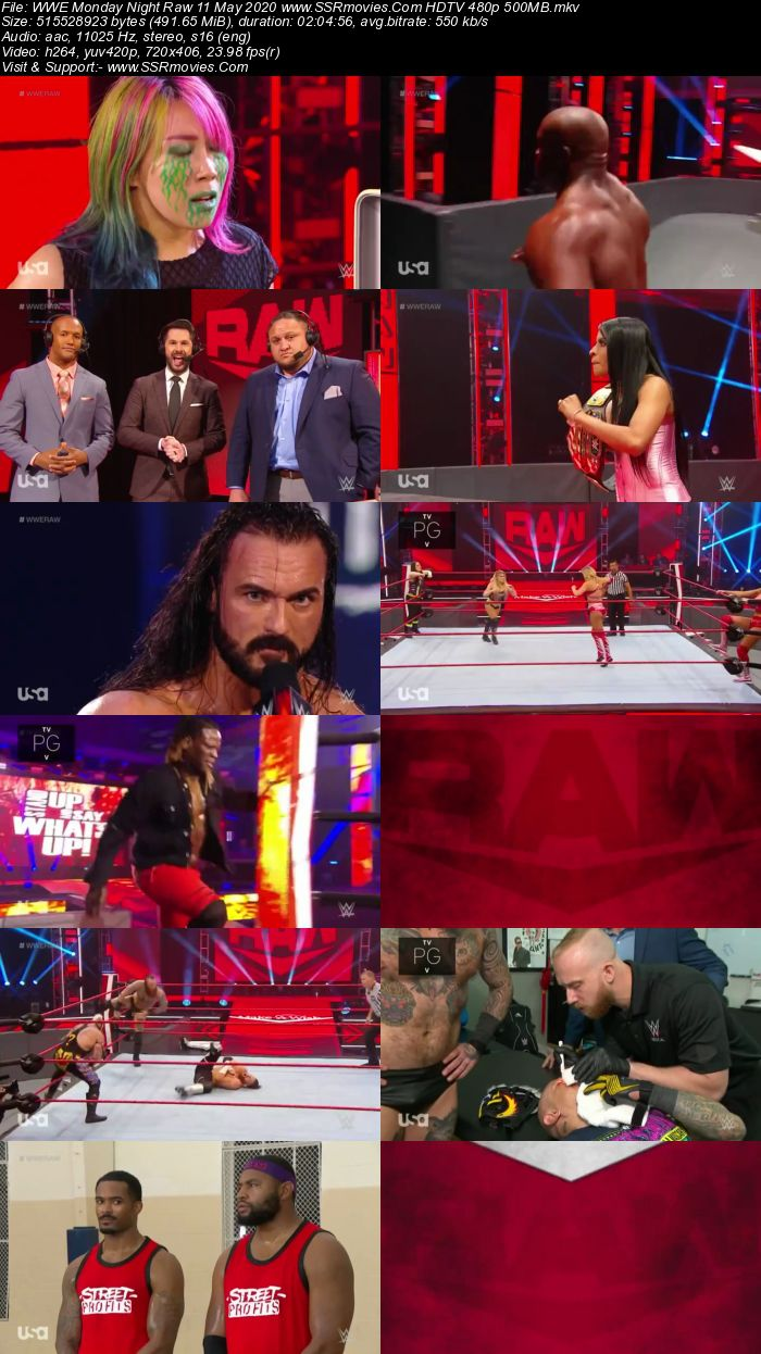 WWE Monday Night Raw 11 May 2020 Full Show Download HDTV WEBRip 480p 720p