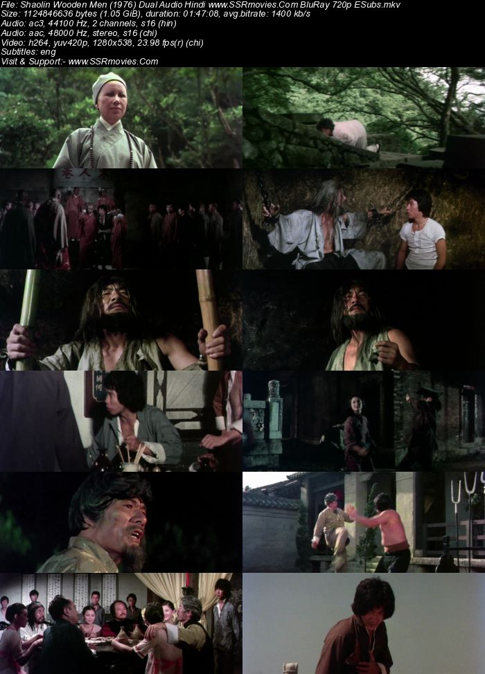 Shaolin Wooden Men (1976) Dual Audio Hindi 480p BluRay 350MB ESubs Full Movie Download