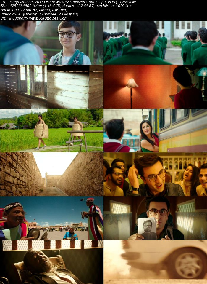Jagga Jasoos (2017) Hindi 480p DVDRip x264 500MB Full Movie Download