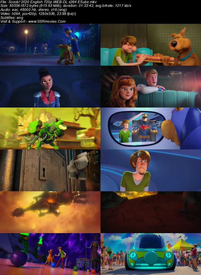 Scoob! (2020) English 480p WEB-DL x264 300MB ESubs Full Movie Download