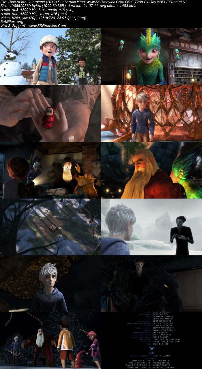 Rise of the Guardians (2012) Dual Audio Hindi 480p BluRay 300MB ESubs Full Movie Download