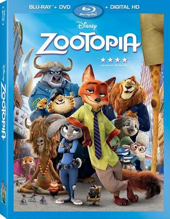 Zootopia (2016) Dual Audio Hindi 350MB BluRay 480p ESubs Download