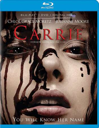 Carrie (2013) Dual Audio Hindi 480p BluRay x264 300MB ESubs Full Movie Download