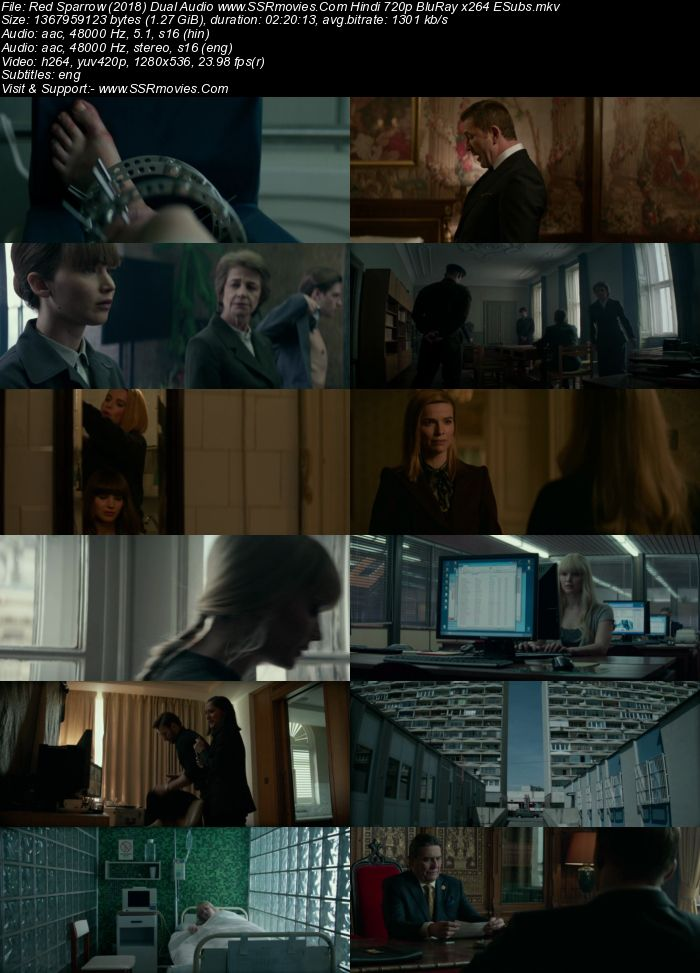 Red Sparrow (2018) Dual Audio Hindi 720p BluRay x264 1.3GB Full Movie Download