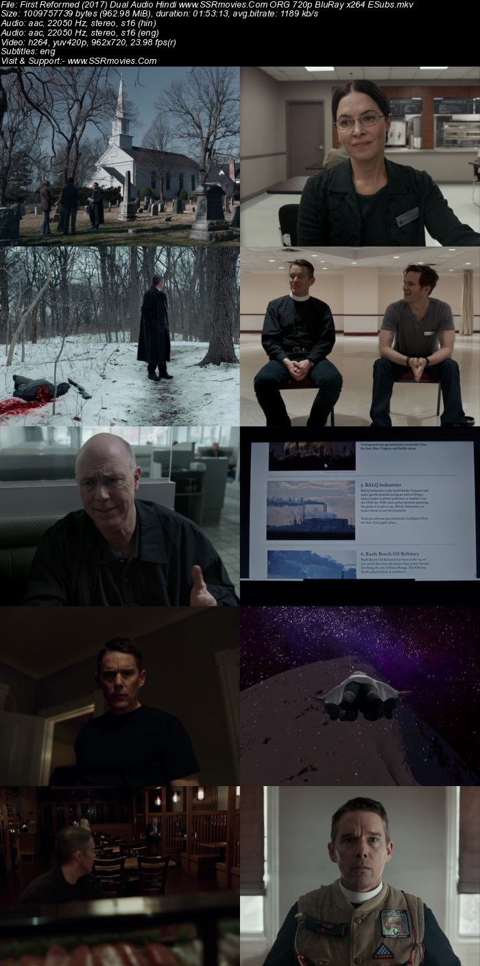 First Reformed (2017) Dual Audio Hindi ORG 720p BluRay x264 950MB