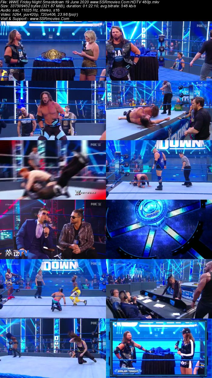 WWE Friday Night SmackDown 19 June 2020 Full Show Download