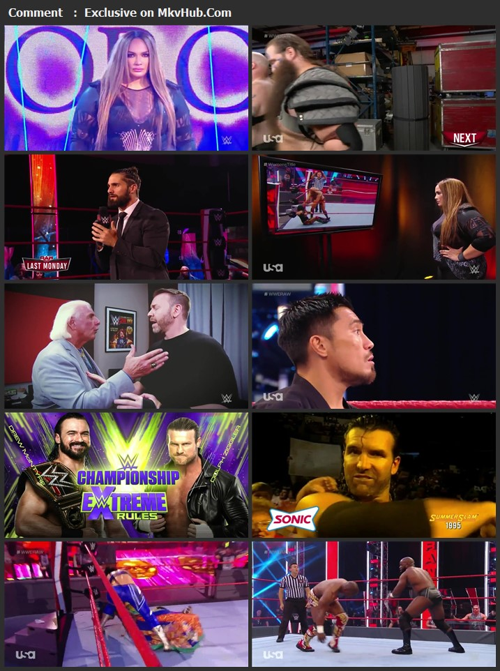 WWE Monday Night RAW 22 June 2020 720p HDTV x264 1.1GB Download