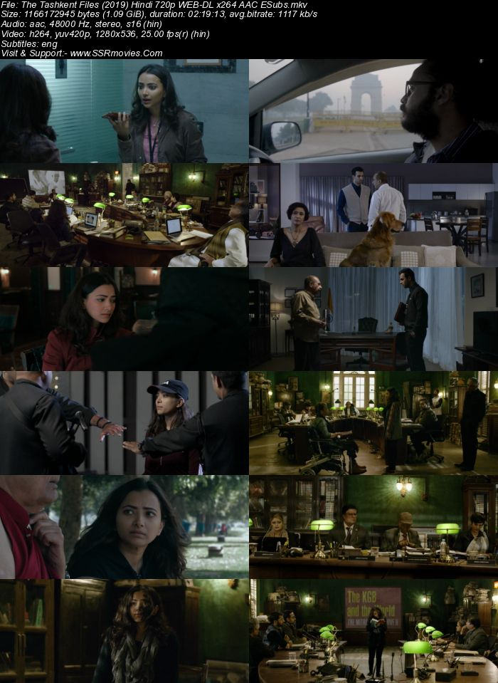 The Tashkent Files (2019) Hindi 720p WEB-DL x264 1.1GB Full Movie Download