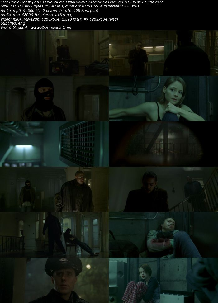 Panic Room (2002) Dual Audio Hindi 720p BluRay x264 1GB Full Movie Download