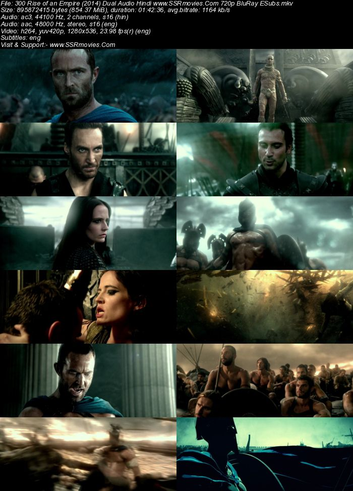 300: Rise of an Empire (2014) Dual Audio Hindi 480p BluRay 300MB ESubs Full Movie Download