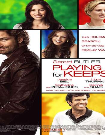 Playing for Keeps (2012) Dual Audio Hindi 480p BluRay 300MB ESubs Full Movie Download