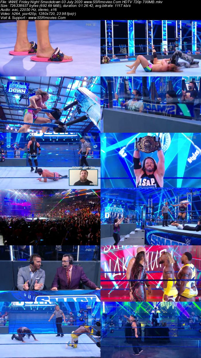WWE Friday Night SmackDown 3 July 2020 Full Show Download