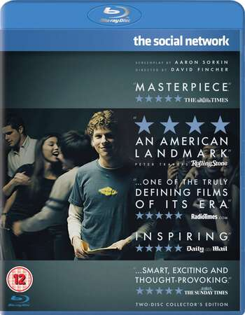 The Social Network (2010) Dual Audio Hindi 720p BluRay x264 800MB Full Movie Download