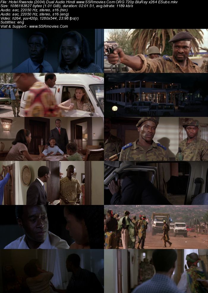 Hotel Rwanda (2004) Dual Audio Hindi 720p BluRay x264 1GB ESubs Full Movie Download