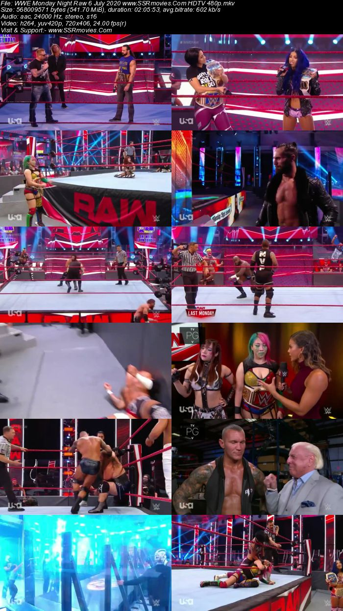 WWE Monday Night Raw 6 July 2020 Full Show Download HDTV WEBRip 480p 720p